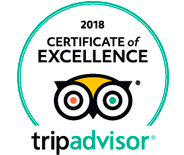 Tripadvisior certificate of excellence 2018 experience logo experience logo