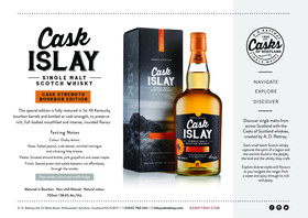 Cask Islay Bourbon Edition Sales Sheet